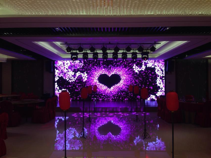 吉林喜洋洋酒店室内P5全彩显示屏